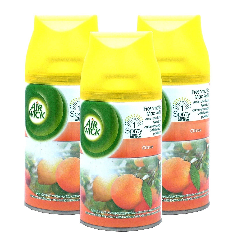3 x Air Wick Freshmatic Max Refills 250ml - Citrus