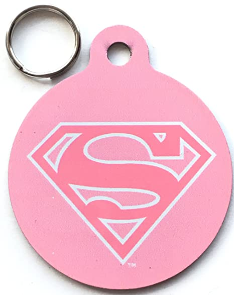DC Comics Super Girl - Placa identificativa para Perro o ...