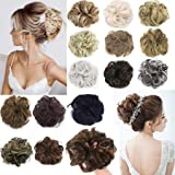 FLORATA Updo Hairpiece Curly Messy Hair Bun Extensions Donut Chignons Hair Extension Hair Scrunchie Scrunchy Up Do Ponytail Extension Hair Piece Wig