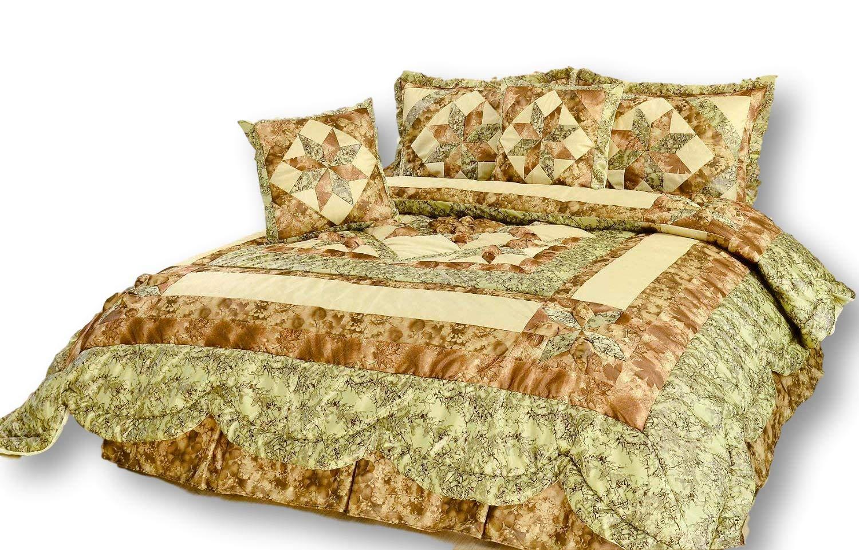 Dada寝具ve-jhw-572-ck Darklyボヘミアンパッチワークキルト風ベッドスプレッドセット ツイン ブルー VE-JHW-572-T B077JKSW1Q  ツイン