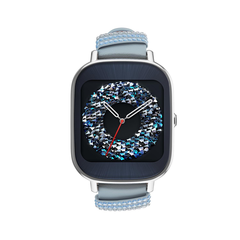 ASUS ZenWatch 2 Swarovski Édition spéciale 37 mm Smart Watch avec batterie de charge rapide, cristal de Swarovski Bracelet, 4 Go de stockage, écran tactile ...