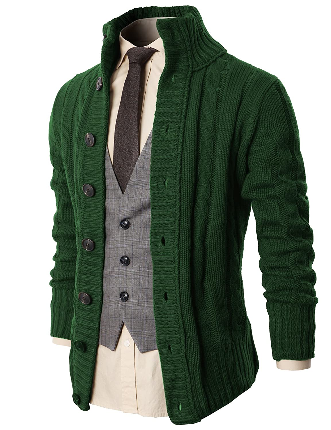 Amazon.com: Challyhope Men Winter Casual Hooded Cardigan Loose Fit ...