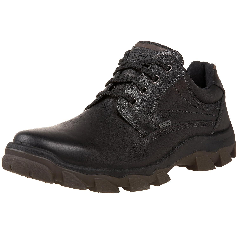 Ecco Track V - Zapatos de Cordones de Piel para Hombre Negro Negro, Color Negro, Talla 43: Amazon.es: Zapatos y complementos