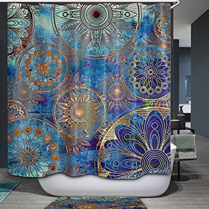 Amazon Blue Purple Mandala Shower Curtain Tree Of Life With
