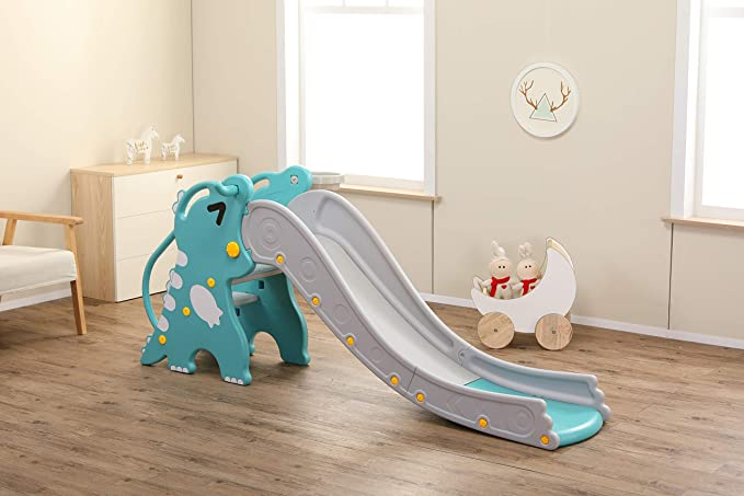 Pastel Blue Handy Size Easy to Assemble Jamara 460692 Happy Childrens Slide-Suitable for Indoor and Outdoor Use