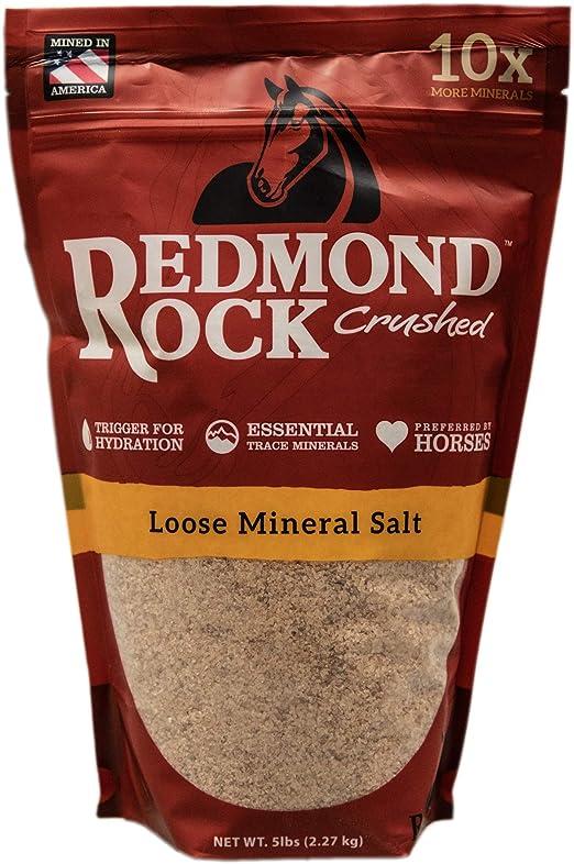 REDMOND Rock Crushed Loose Mineral Salt Electrolyte Supplement for Horses