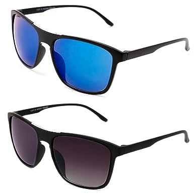6e3f1f05d469 TheWhoop Combo New Mirror UV Protected Wayfarer Goggles Rectangular  Sunglasses For Men, Women, Boys