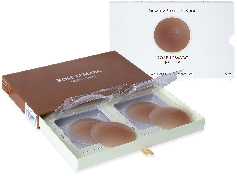 Rose LeMarc Premium Waterproof Silicone Nipple Covers - Nude N02 Medium (2 Pairs) Styles: Shade of Nude N01 N03