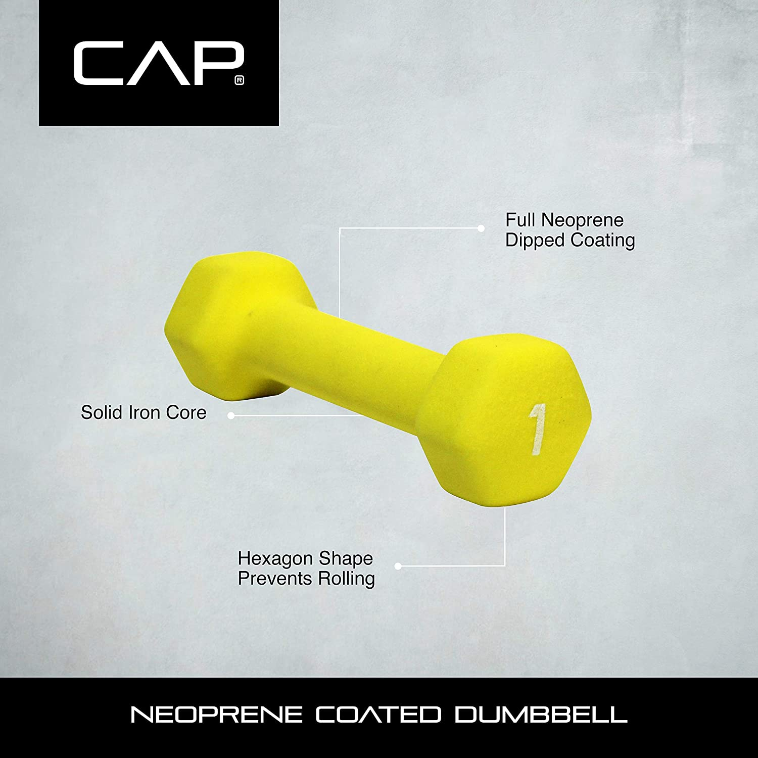 10 8 5 3 2 lbs - Total 56 Pounds CAP Hex Neoprene Dumbbell Weights Set NEW