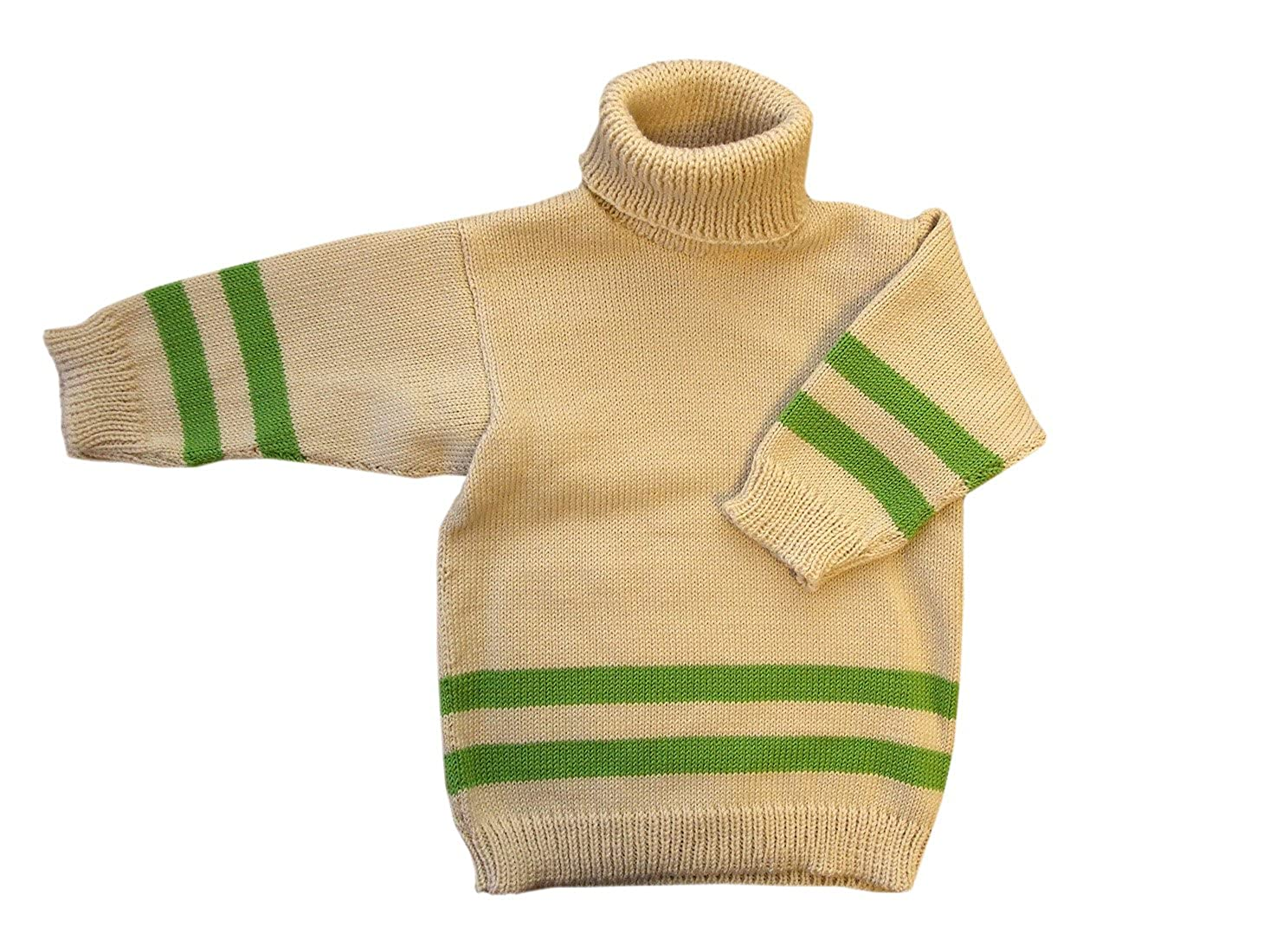 Merino Wool Knitted Polo Neck Sweater Turtleneck