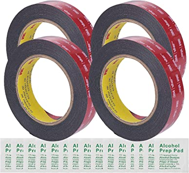 """3M 0.5/"""" Width 15 Ft Length VHB Black Heavy Duty Multipurpose Double Sided Tapes"""
