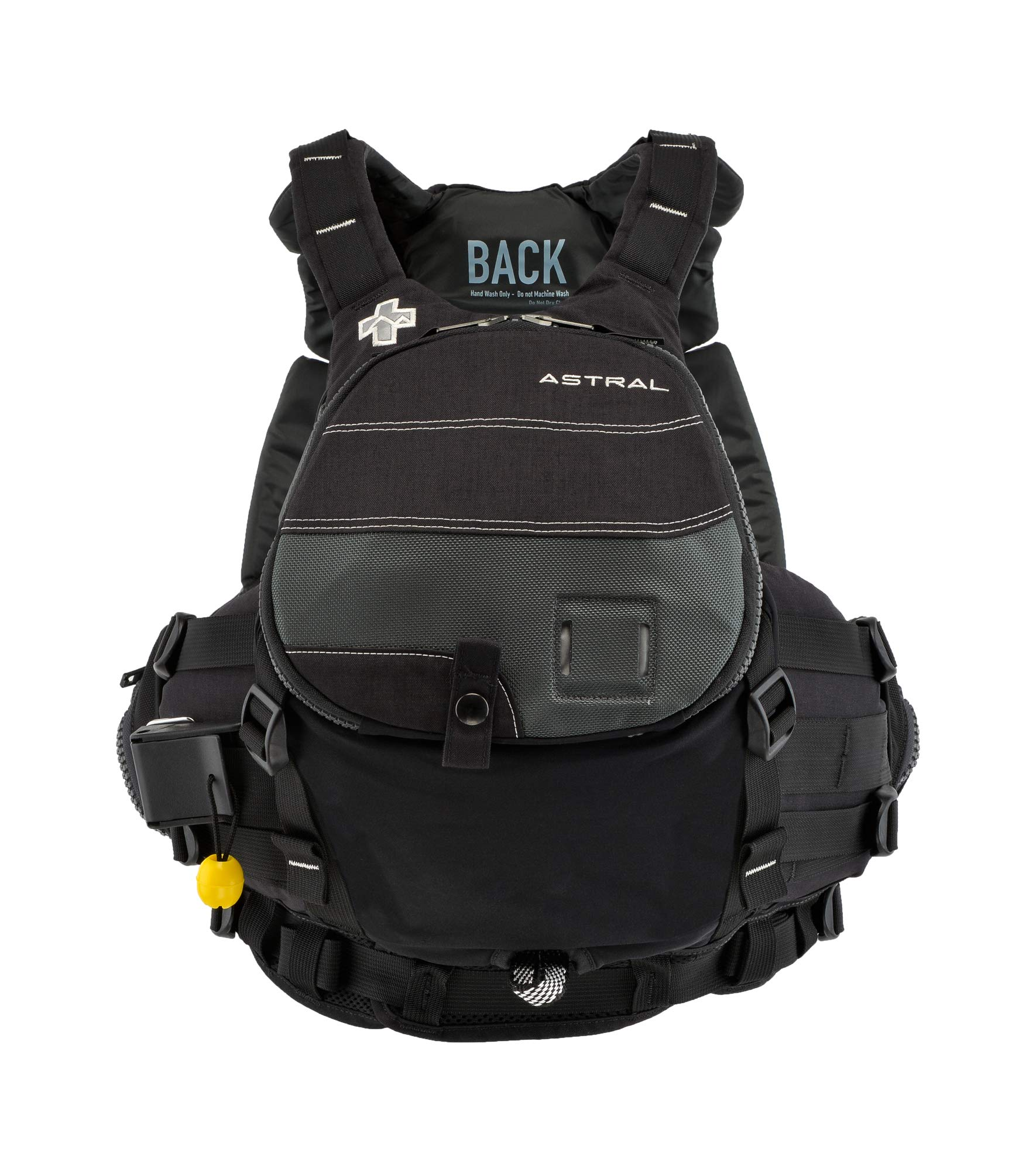 Astral GreenJacket Life Jacket PFD for Whitewater Rescue, Sea, and Stand Up Paddle Boarding, Slate Black, Small/Medium