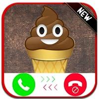 Ice Cream Poop Emoji Calling You - Free Fake Phone Caller ID PRO - PRANK 2020