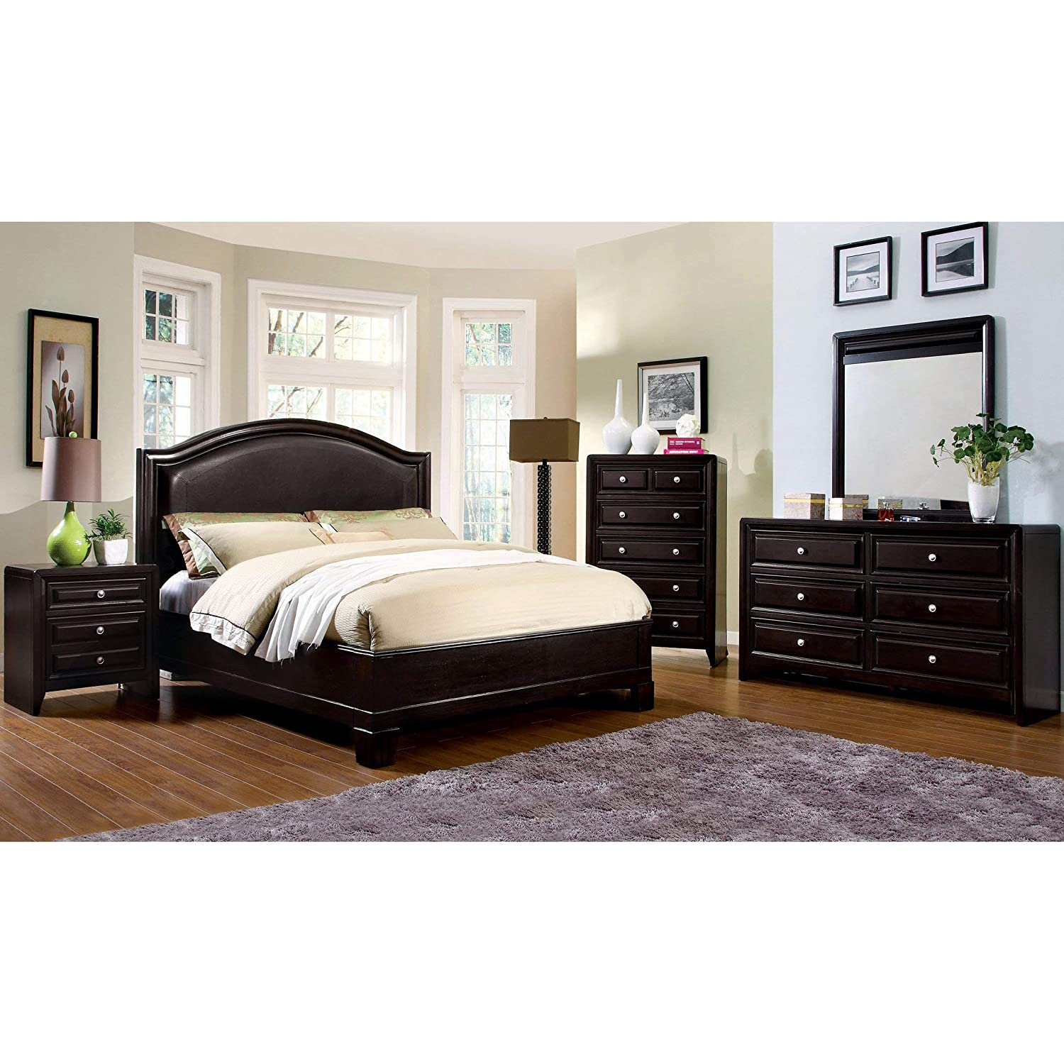 Amazon Com Furniture Of America 4 Piece Transitional Style Bedroom