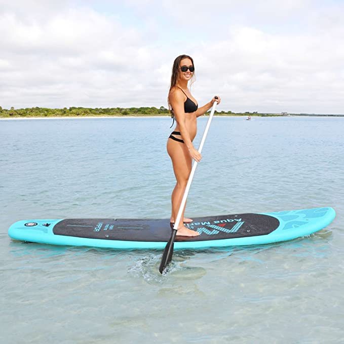 Amazon.com : Aqua Marina VAPOR Inflatable Recreational Stand-up Paddle Board for Light to Medium Weight Paddlers Light Blue iSup by : Sports & Outdoors