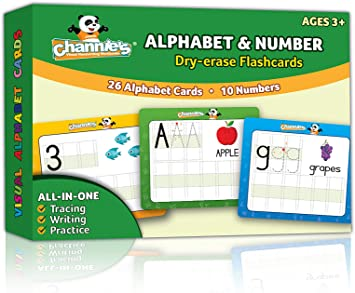 """4/"""" X 5/"""". 50 United States laminated dry erase cards Preschool letter tracing"""