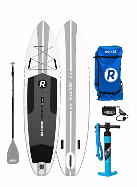 iROCKER All-Around Inflatable Stand Up Paddle Board 11 Long 32