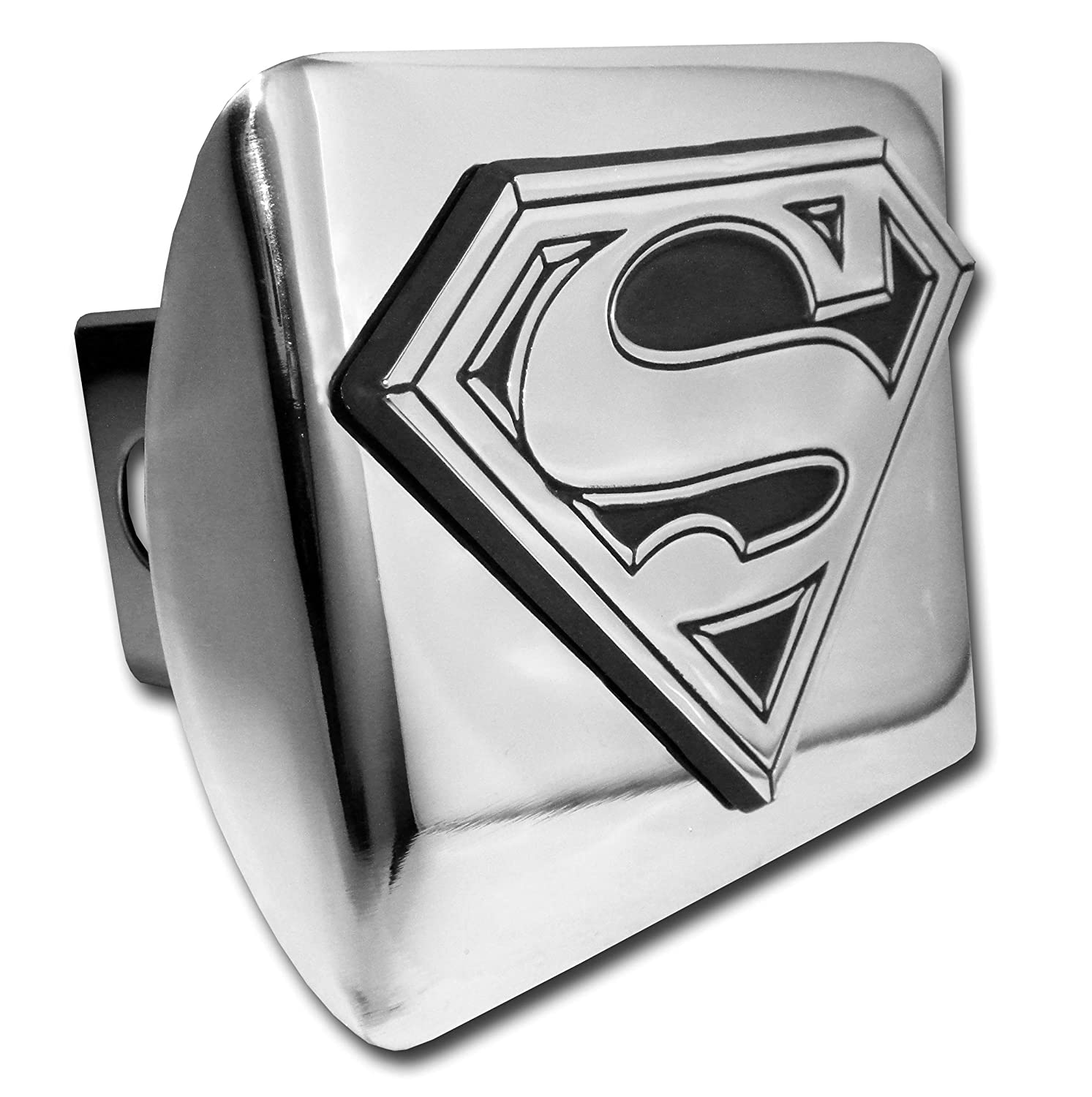 Elektroplate Superman Black and Black All Metal Hitch Cover