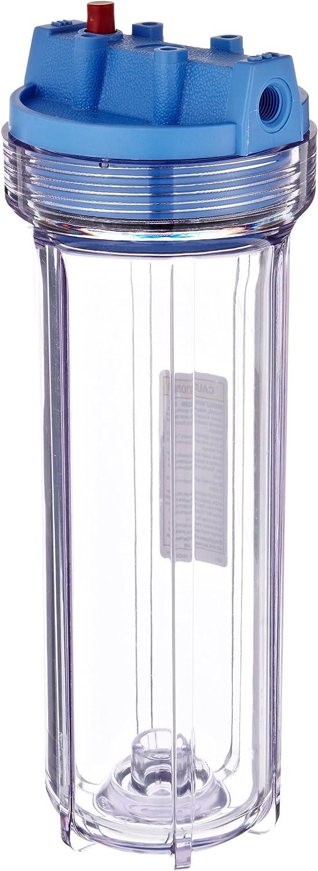"""Pentek 158117 1/4"""" #10 Slim Line Clear Filter Housing"""