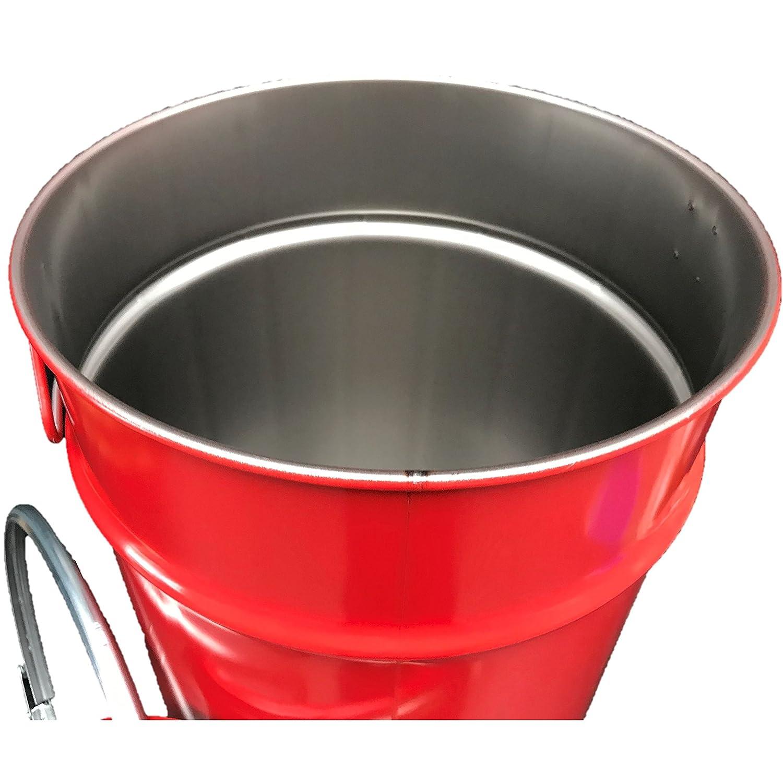 60 litri Fusto per olio con coperchio rosso