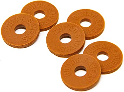 6 X RUBBER GUITAR STRAP LOCK WASHERS FREE POSTAGE 3 PAIRS