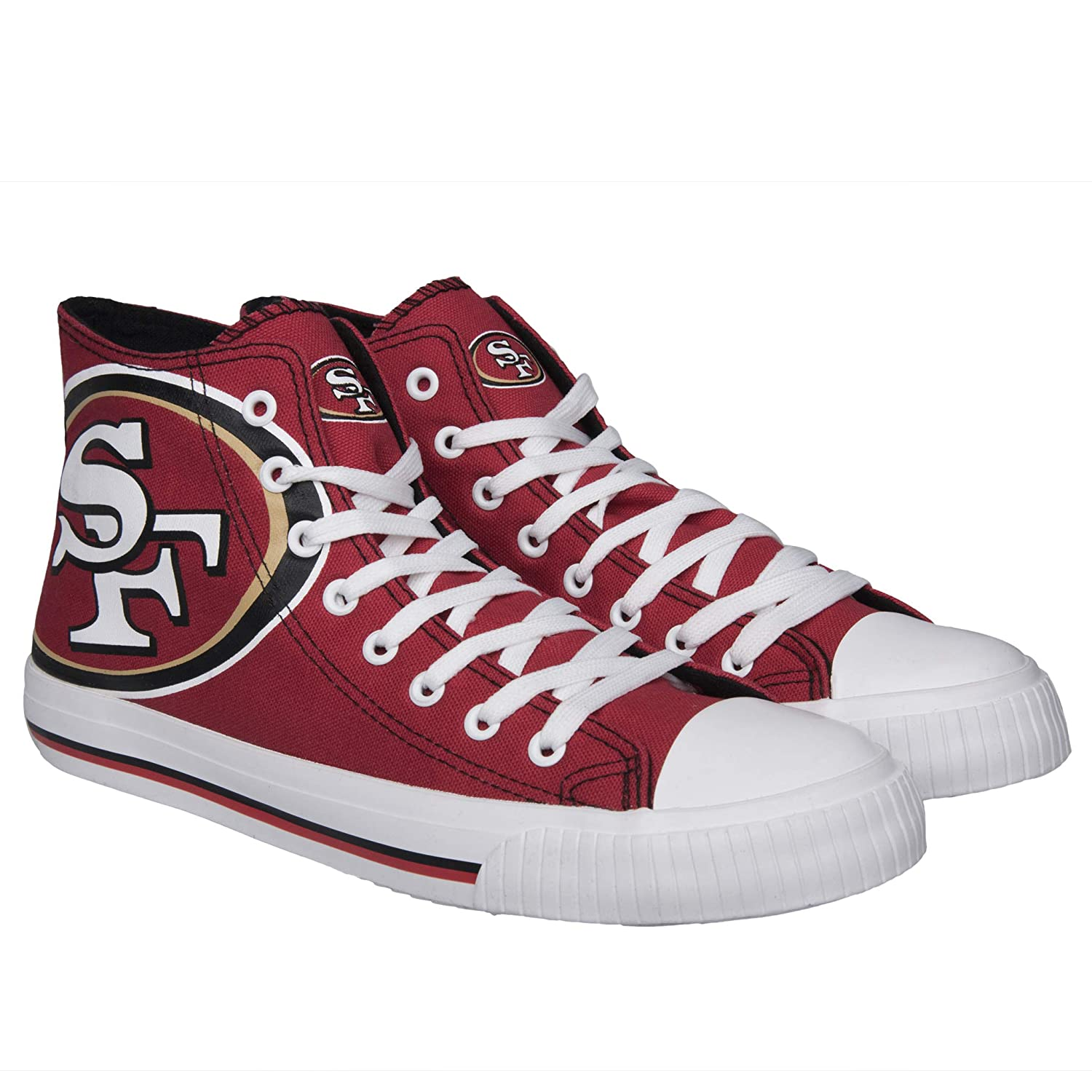 Forever Collectable San Francisco 49ers High Top Big Logo Canvas Shoes