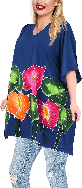 LA LEELA Chemise de Plage Robe de Plage en pour Femme Par/éo Sarong Taille Unique 282