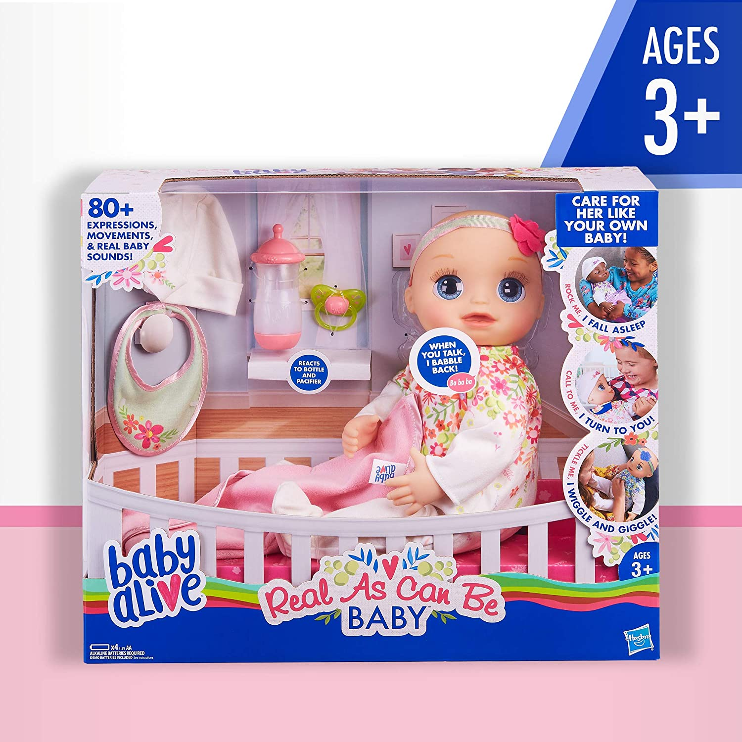 19a31c9bf Amazon.com  Baby Alive Real As Can Be Baby  Realistic Blonde Baby ...