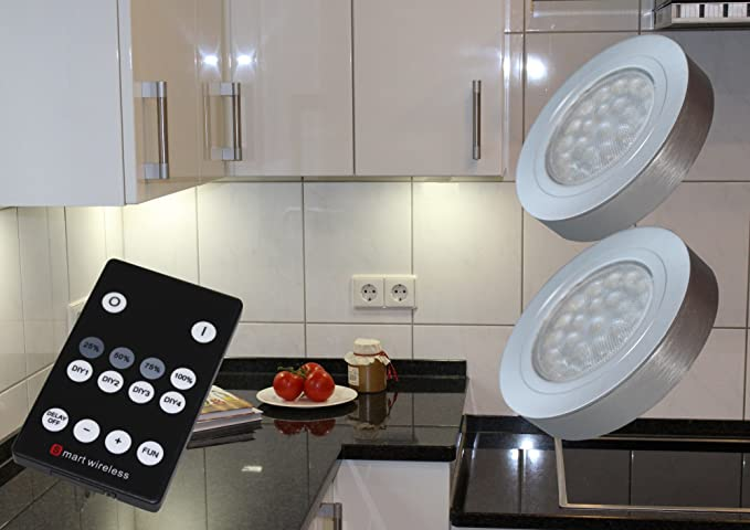 Plafoniera Led Da Incasso : Set di lampade da incasso a led dimmerabile con telecomando in