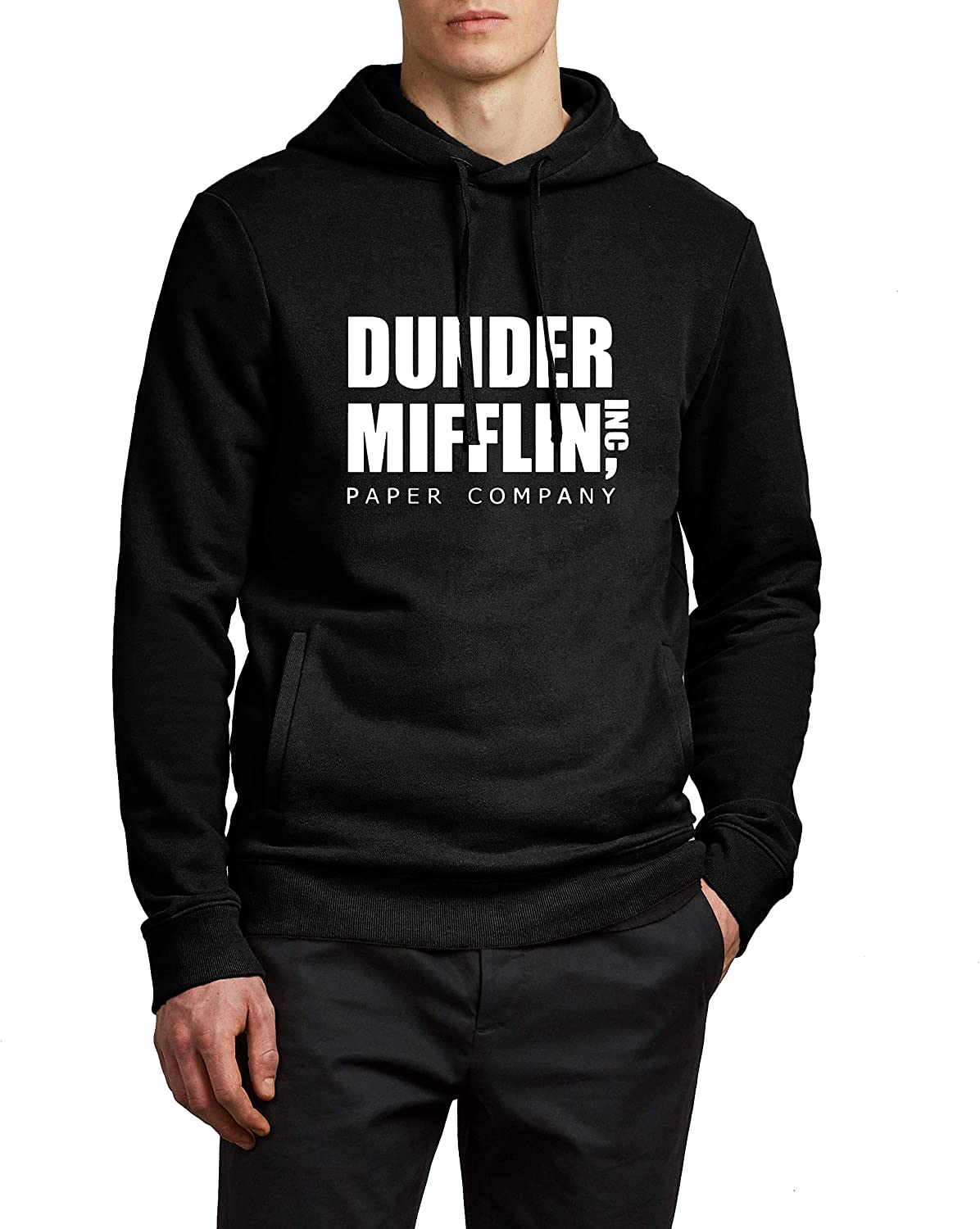 Mens Dunder Hoodie - Mifflin TV Show Office Merchandise Sweatshirt