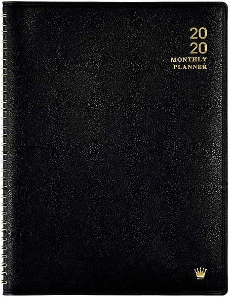 Amazon.com: Planificador mensual tamaño A4 2020., Negro ...