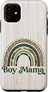 iPhone 11 Rustic Boy Mama Camo Leopard Print Rainbow Mom of Boys Case