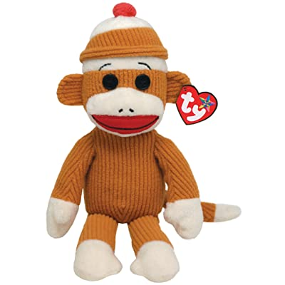 Ty Beanie Buddies Socks Monkey (Tan Corduroy): Toys & Games
