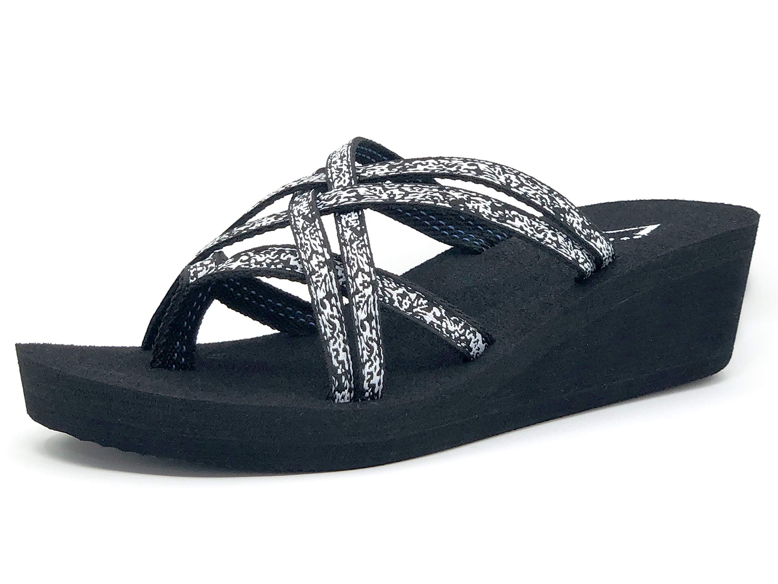 Viakix Wedge Flip Flops for Women – Comfortable, Stylish, Cute, Women's Strappy Sandal for Walking, Beach, Travel by Viakix (Image #2)
