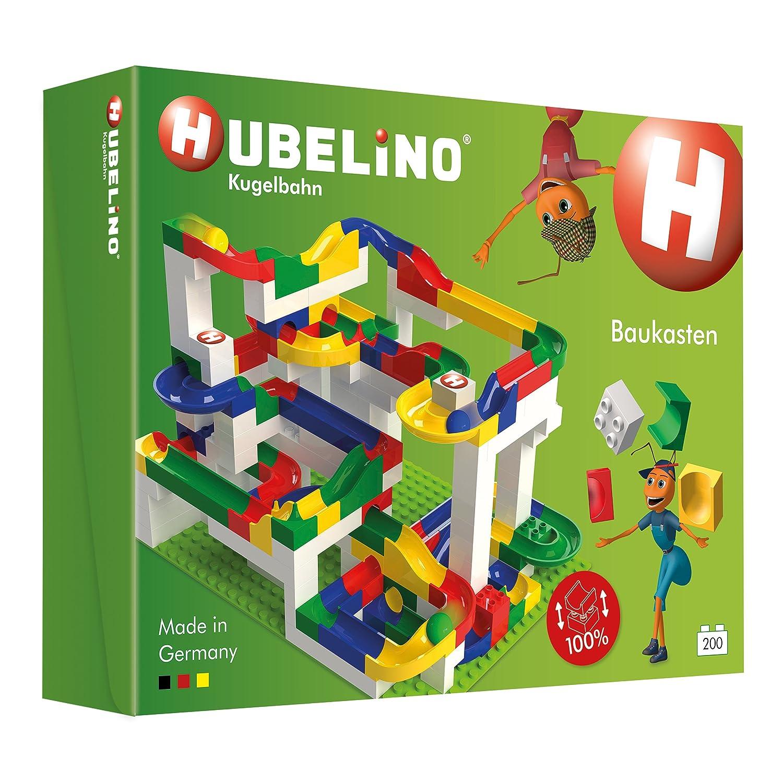 Amazoncom Hubelino Marble Run 200 Piece Big Building Box The
