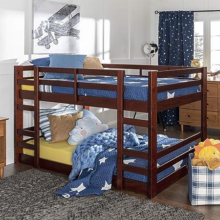 WE Furniture AZWJRTOTES Bunk Bed, Twin, Espresso