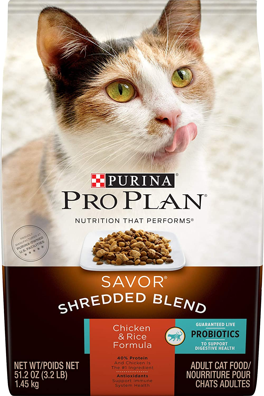 Purina Pro Plan SAVOR Adult Dry Cat Food With Probiotics
