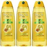 Garnier Fructis Triple Nutrition Shampoo, 13-Fluid Ounce (Pack of 3)