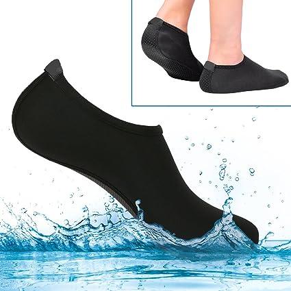 Calcetines de Agua para Mujer y Hombre, Calcetines de conducción para niños, Extra cómodos – Protege la Arena de repente, Voleibol de Playa, ...