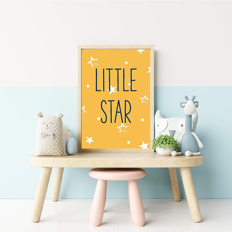 Kinderzimmer Deko Junge Poster f/ür das Kinderzimmer Babyparty Geschenk Kreatives Geschenk zur Geburt Liebevoll gestaltetes 4er Set Poster f/ür Kinder in A4 Donari /®