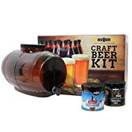 Mr. Beer Premium Gold Edition 2 Gallon Homebrewing Craft Beer Making Kit With Two Beer Refills