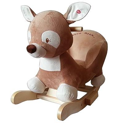 """'Animal à bascule cheval à bascule Chevreuil """"DORIS The Deer supersüss, modèle de grande qualité avec fonction Lullaby chanson"""