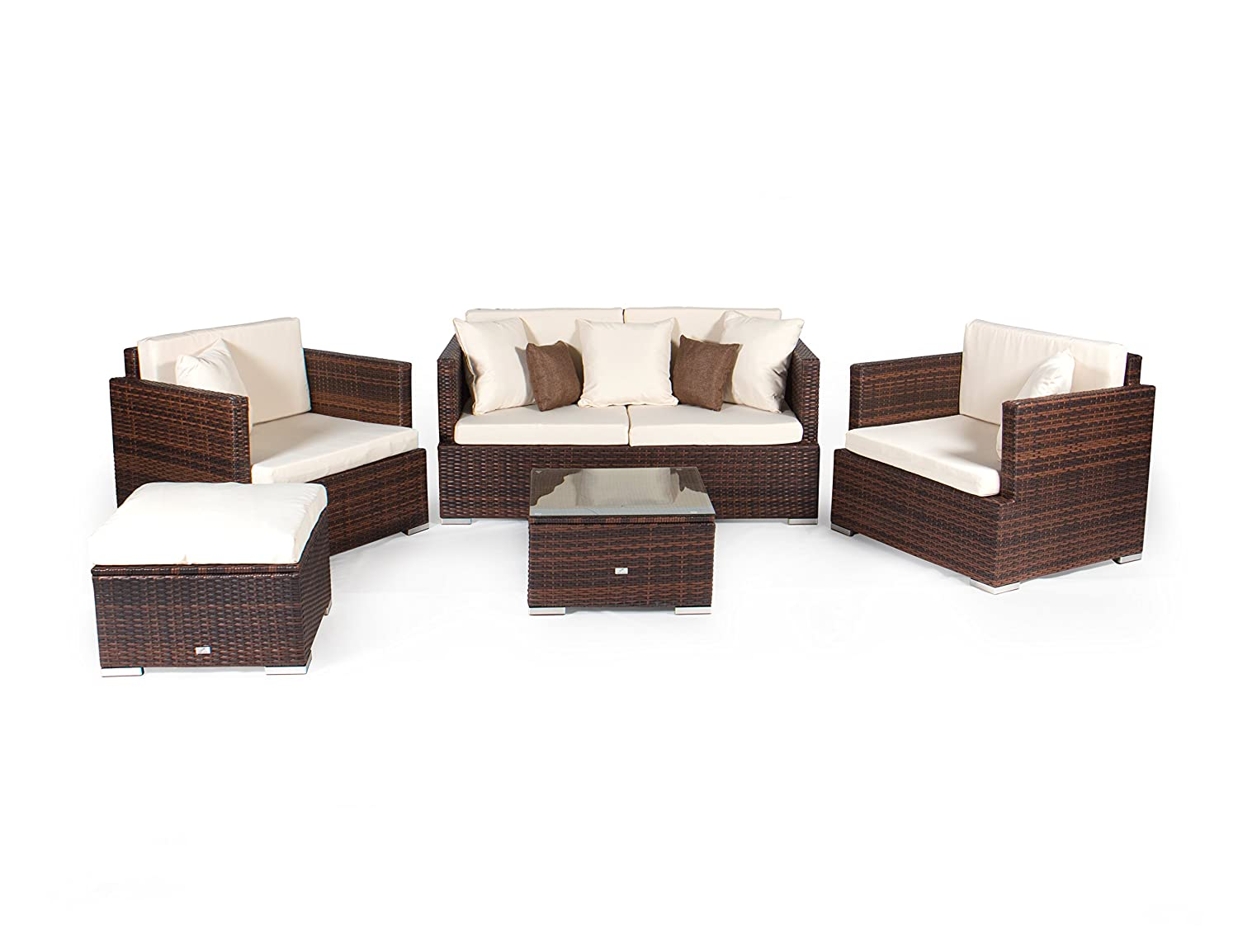vanage gartenm bel set melbourne in rattan optik polyrattan loungem bel f r garten balkon. Black Bedroom Furniture Sets. Home Design Ideas