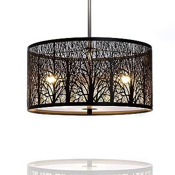 Hängelampe | Hängeleuchte Natura | Deckenlampe 40cm | Natur | Wald | Lounge  | Wohnzimmer |