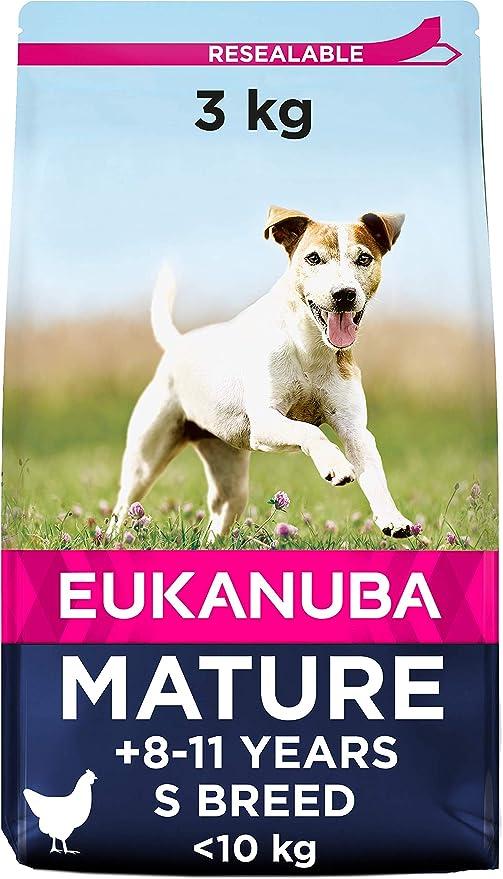 Oferta amazon: Eukanuba Comida seca para perros mayores de razas pequeñas con pollo 3 kg