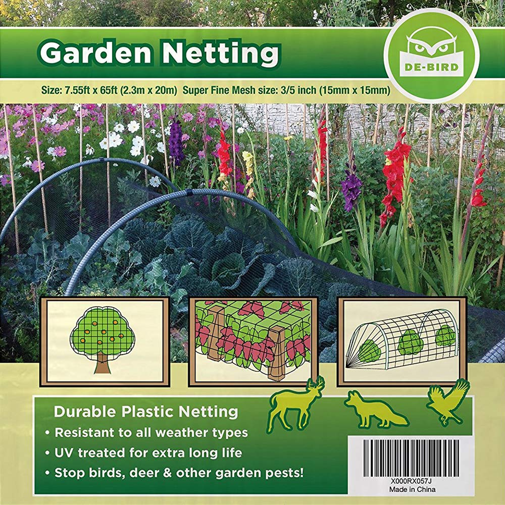 Bird Netting [Heavy Duty] Protect Plants and Fruit Trees - Extra Strong Garden Net is Easy to Use, Doesn't Tangle and Reusable - Lasting Protection Against Birds, Deer and Other Pests (7.5x65 Foot) by De-Bird (Image #7)