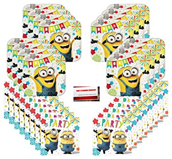 Amazon.com: Despicable Me Minions Birthday Party Supplies ...