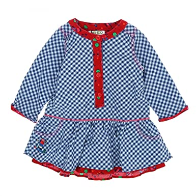 de8acc07ebaab Kenzo - Robe vichy bleu - Fille 6 mois  Amazon.fr  Vêtements et ...