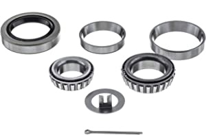 [1 Set] 3500lbs Trailer Axle Bearing Kit L44649/10, L68149/11 for #84 Spindle,1.719'',10-19 Seal