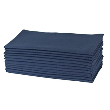 Cotton Craft - Dinner Napkins, 12 Pack Oversized Dinner Napkins 20x20 Navy, 100% Cotton, Tailored with Mitered corners and a generous hem, Napkins are 38% larger than standard size napkins